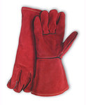 PIP 73-7015A Brown Large Split Cowhide Leather Welding Glove - Wing Thumb - 13.5 in Length - 616314-10477