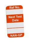 Brady Nanotag Orange Vinyl Nano Tag Insert - 5/8 in Width - 1 1/4 in Height - NAN-GP O