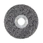 3M Scotch-Brite CS-UW Unitized Silicon Carbide Medium Deburring Wheel - Very Coarse Grade - Arbor Attachment - 3 in Diameter - 3/8 in Center Hole - Thickness 1/2 in - 18164