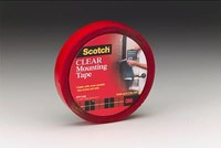 3M Scotch 4010 Clear Foam Mounting Tape - 1 in Width x 450 in Length - 67747