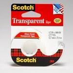3M Scotch 174 Clear Office Tape - 1/2 in Width x 1000 in Length - 01031