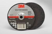 3M Standard (Type 27) Ceramic Depressed-Center Wheel - 36 Grit - Very Coarse Grade - 4 in Diameter - 3/8 in Center Hole - 1/4 in Thick - 66555