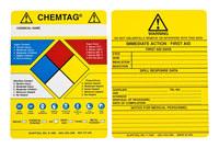 Brady Chemtag Black / Blue / Red / Yellow Vinyl Hazardous Substance Tag Insert - 7 5/8 in Width - 5 3/4 in Height - CHEM-CTI502