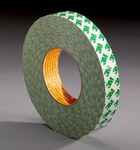 3M 9087 White Bonding Tape - 1 in Width x 55 yd Length - 10.1 mil Thick - Glassine Paper Liner - 07782