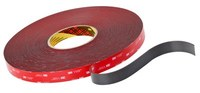 3M 4611 Gray VHB Tape - 1/2 in Width x 36 yd Length - 45 mil Thick - 56375