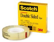 3M Scotch 665 Office Tape - 1/2 in Width x 1296 in Length - 07339