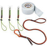 Ergodyne Squids 3182 Orange/Lime Cloth/Elastic/Silicone Tool Tethering Kit - 720476-19652