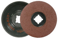 Weiler Aluminum Oxide Deburring Disc - Very Coarse Grade - Arbor Attachment - 4 1/2 in Diameter - 7/8 in Center Hole - 59403