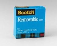 3M Scotch 811 Office Tape - 3/4 in Width x 1296 in Length - 19244
