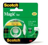 3M Scotch 119 Magic Clear Office Tape - 1/2 in Width x 800 in Length - 00004
