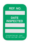 Brady Microtag Green Vinyl Micro Tag Insert - 1 1/4 in Width - 1 7/8 in Height - Printed Text = DATE INSPECTED - MIC-MTIUSA G