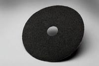 3M 501C Coated Alumina Zirconia Black Fibre Disc - Fiber Backing - 24 Grit - Very Coarse - 5 in Diameter - 7/8 in Center Hole - 50410