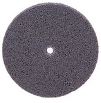 Weiler Unitized Aluminum Oxide Soft Deburring Wheel - Fine Grade - Arbor Attachment - 3 in Diameter - 1/4 in Center Hole - 1/4 in Thickness - 55512