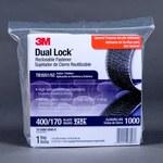 3M Dual Lock TB3551/TB3552 Black Hook & Loop Tape - Mushroom Hook with 400 stems/in Stem Count - 1 in Width x 10 ft Length - 97630