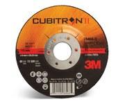 3M Cubitron II Type-Q Ceramic Aluminum Oxide Depressed Center Grinding Wheel - 4 1/2 in Dia 7/8 in Center Hole - Thickness 1/4 in - 13,300 Max RPM - 78466