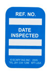 Brady Microtag Blue Vinyl Micro Tag Insert - 1 1/4 in Width - 1 7/8 in Height - Printed Text = DATE INSPECTED - MIC-MTIUSA B