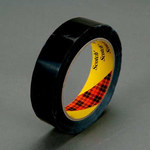 3M Scotch 690 Black Color Coding Bag/Packaging Tape - 12 mm Width x 66 m Length - 2.3 mil Thick - 61633