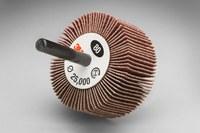 3M 244D Coated Aluminum Oxide Flap Wheel - X Weight - 1 in Face Width - 2 1/2 in Diameter - 20287
