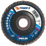 Weiler Tiger X Angled Flap Disc - 4 1/2 in Diameter - 7/8 in Center Hole - 51202