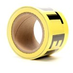 3M Scotch 374 Yellow Warning Tape - Pattern/Text = CAUTION DO NOT ENTER - 3 in Width x 300 ft Length - 4 mil Thick - 57961