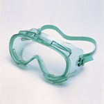 Jackson Safety Monogoggle V80 Polycarbonate Standard Safety Goggle Clear Lens - Green Frame - Indirect Vent - 711382-01832