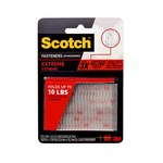 3M Scotch Clear Hook & Loop Tape - 1 in Width x 3 in Length - 64284
