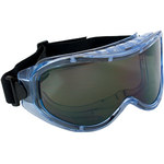 Bouton Optical Contempo 251-5300 Universal Polycarbonate Over The Glass (OTG) Safety Goggle Gray Lens - Clear Frame - Indirect Vent - 616314-06316