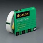3M Scotch 810 Magic Clear Office Tape - 1 in Width x 2592 in Length - 07369