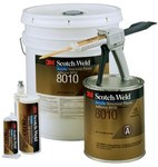 3M Scotch-Weld 8010 Amber Two-Part Accelerator (Part A) Methacrylate Adhesive - 1 gal Pail - 49115