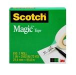 3M Scotch 810 Magic Clear Office Tape - 1 in Width x 1296 in Length - 07379
