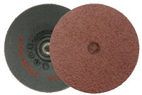 Weiler Aluminum Oxide Deburring Disc - Very Coarse Grade - Arbor Attachment - 3 in Diameter - 59300