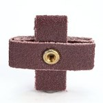 3M 341D A/O Aluminum Oxide AO Cross Pad P120 Grit - 1 in Width x 1 in Length - 3/8 in Pad Thickness - Maroon - 27370
