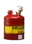 Justrite Red Steel 5 gal Safety Can - 15 7/8 in Height - 11 3/4 in Overall Diameter - 697841-14029