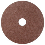 Weiler Coated Aluminum Oxide Fiber Disc - Fiber Backing - 24 Grit - Very Coarse - 4 in Diameter - 5/8 in Center Hole - 59491