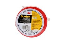 3M Scotch 690 Red Color Coding Bag/Packaging Tape - 48 mm Width x 66 m Length - 2.3 mil Thick - 74885