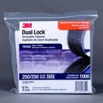 3M Dual Lock TB3550 Black Hook & Loop Tape - Mushroom Hook with 250 stems/in Stem Count - 1 in Width x 10 ft Length - 97629