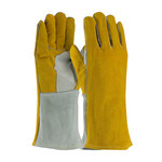 PIP 73-7150 Brown/Gray Large Split Cowhide Leather Welding Glove - 13.5 in Length - 616314-10538