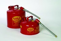 Eagle Red Galvanized Steel 2 gal Safety Can - 9 1/2 in Height - 11 1/4 in Overall Diameter - 048441-22142