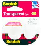 3M Scotch 157S Clear Office Tape - 3/4 in Width x 300 in Length - 70633