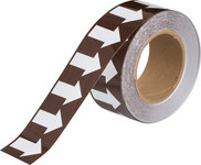 Brady B-302 White on Brown Pipe Banding Tape - 2 in Width - 30 yd Length - 109938