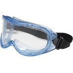 Bouton Optical Contempo 251-5300 Universal Polycarbonate Standard Safety Goggle Clear Lens - Light Blue Frame - Indirect Vent - 616314-06293