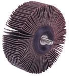 Weiler Coated Aluminum Oxide Flap Wheel - 1 in Face Width - 1 in Diameter - 20 Threaded Stem - 52601