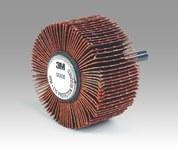 3M Cubitron 747D Coated Ceramic Flap Wheel - X Weight - 1/2 in Face Width - 1 1/2 in Diameter - 20295