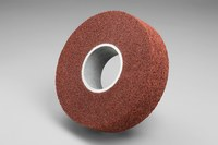3M Scotch-Brite MF-WL Convolute Aluminum Oxide Medium Deburring Wheel - Coarse Grade - Arbor Attachment - 14 in Diameter - 8 in Center Hole - Thickness 3 in - 17891