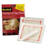 3M Scotch 8240P Clear on Orange Polypropylene Label Protective Pouch Tape Pad - 5 in Width - 6 in Height - 06954
