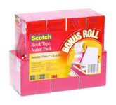 3M Scotch 845-VP Book Tape - 1 1/2 (2 Rolls) in, 2 (4 Rolls) in, 3 (2 Rolls) in Width x 15 yd Length - 94633