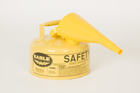 Eagle Yellow Galvanized Steel 1 gal Safety Can - 8 in Height - 9 in Overall Diameter - 048441-22125