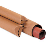 "Crimped End Mailing Tubes, 1 1/2"" x 9"" Kraft - 70 PER CASE"