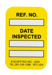 Brady Microtag Yellow Vinyl Micro Tag Insert - 1 1/4 in Width - 1 7/8 in Height - Printed Text = DATE INSPECTED - MIC-MTIUSA Y