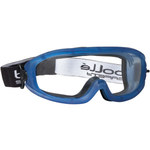 Bolle Safety Atom 254-AT-400 Universal Polycarbonate Standard Safety Goggle Clear Lens - Blue Frame - Indirect Vent - 549172-77840
